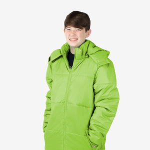Wholesale Boy Coat Classic Combo in Lime Green Sold in Bulk