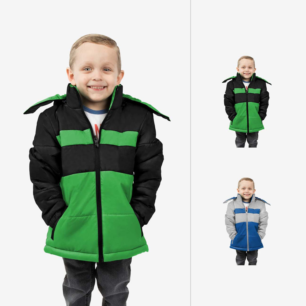 Midnight Combo Wholesale Boy Puffer Coat Sold in Bulk
