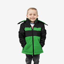 Midnight Combo Wholesale Boy Puffer Coat in Monster Mash Sold in Bulk