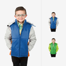 Space Combo Wholesale Boy Puffer Coat Sold in Bulk