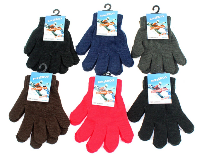 Child Winter Gloves - Assorted Colors