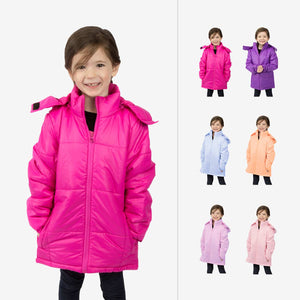 Flamingo Combo Wholesale Girl Puffer Coats Sold in Bulk