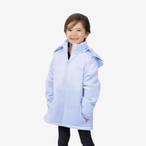 Flamingo Combo Wholesale Girl Puffer Blue Coats Sold in Bulk