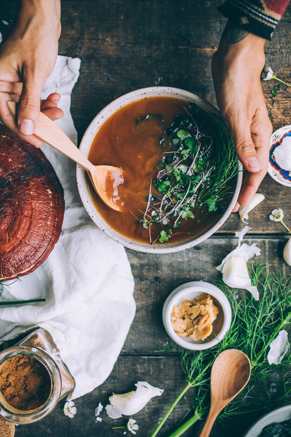 MUSHROOM MISO Immortality Soup to BOOST IMMUNITY