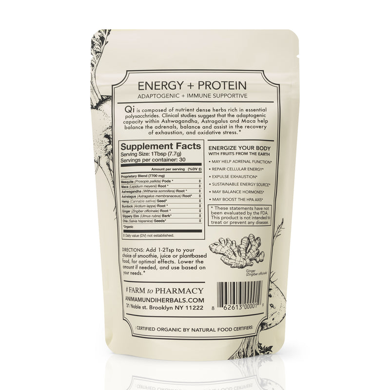 Qi Energy & Protein : Adaptogenic Superpowder