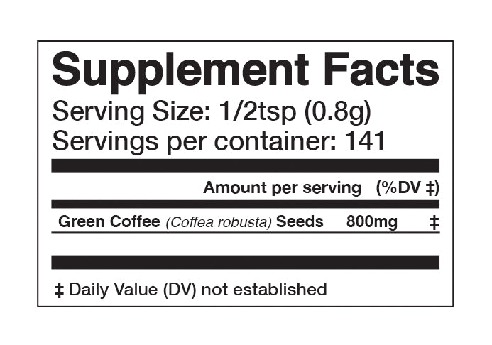 Green Coffee Bean 45% Extract Powder