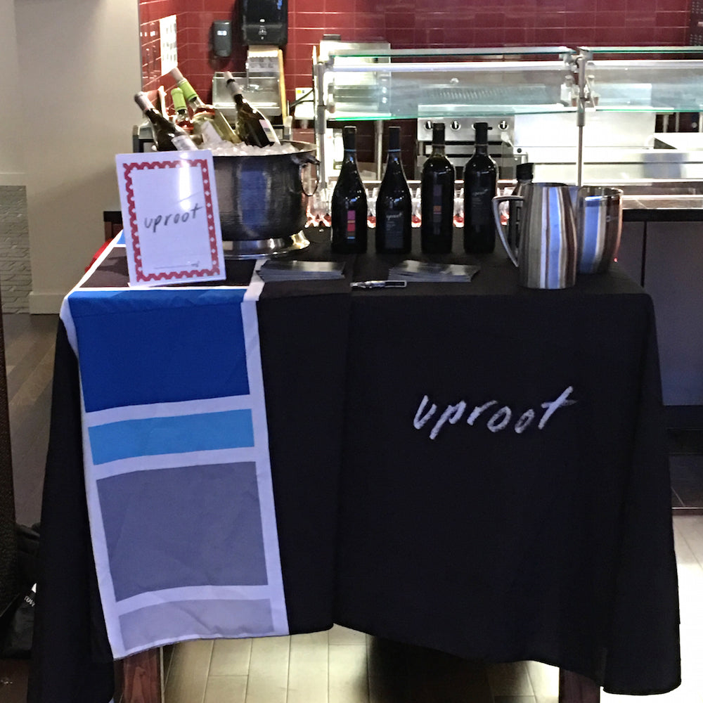 Uproot Wines pouring at 49ers Foundation