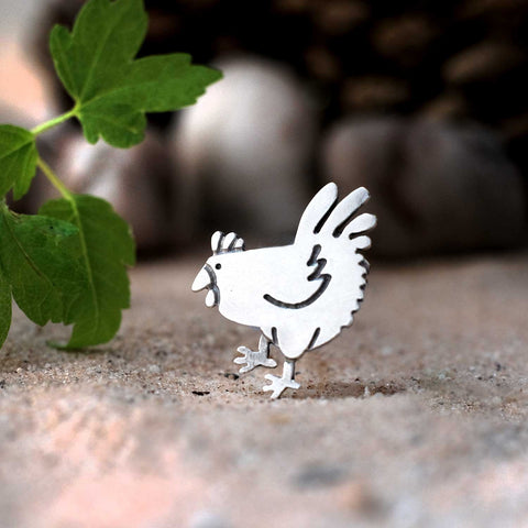 Chook Brooch