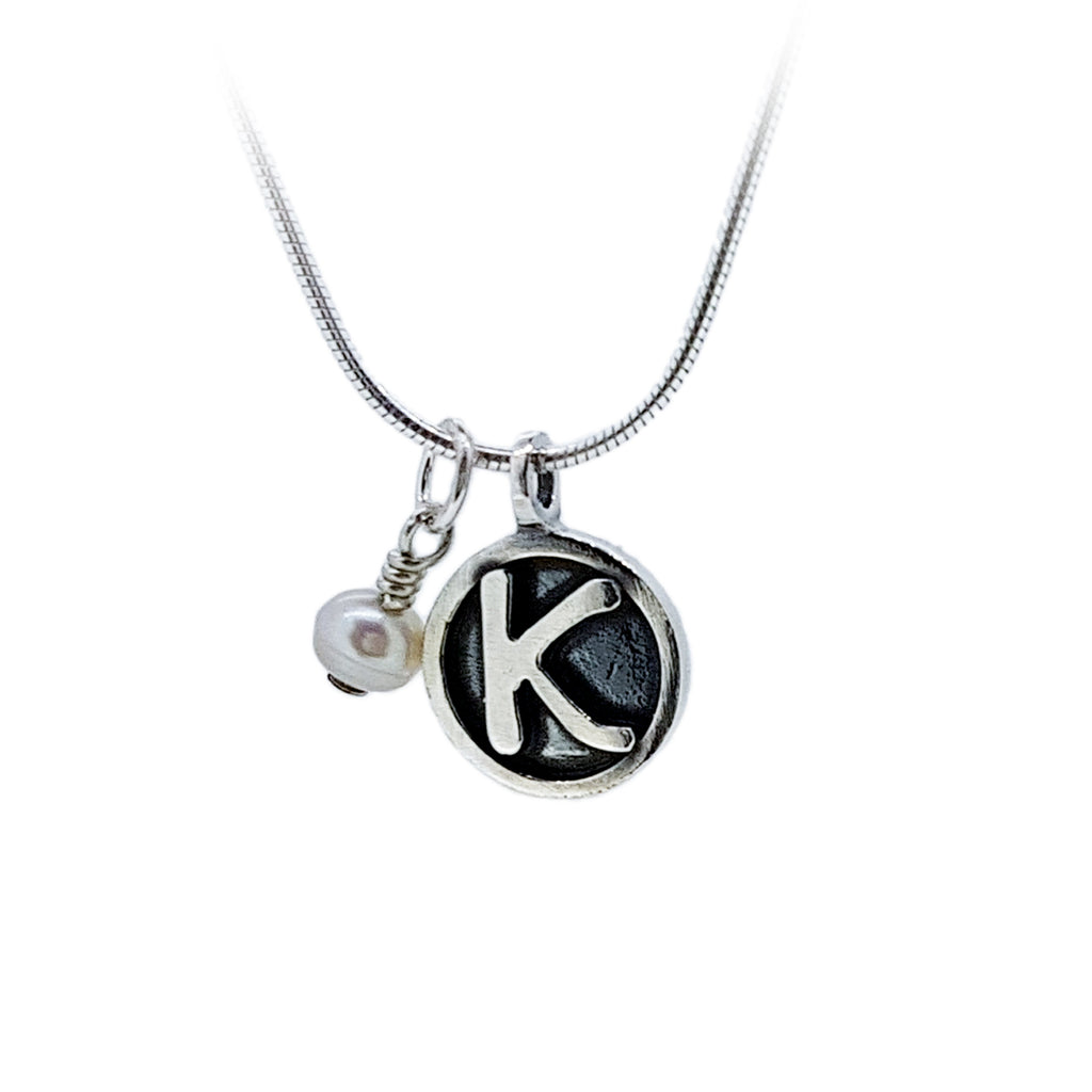Personalised Tiny Pendant with Precious Stones