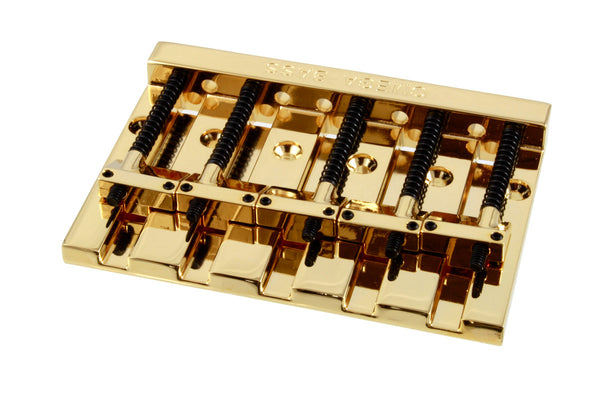 ALLPARTS OMEGA BASS BRIDGE 5 STRING GOLD  Badass-style