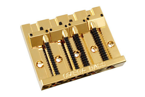 ALLPARTS OMEGA BASS BRIDGE 4 STRING GOLD  Badass-style