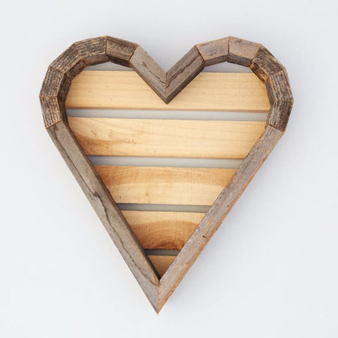 Redwood Heart Planter