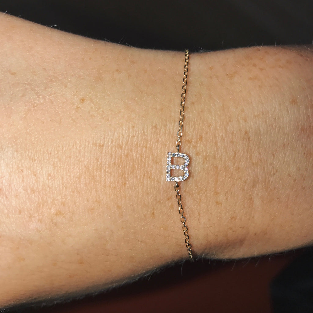 MINI DIAMOND INITIAL BRACELET