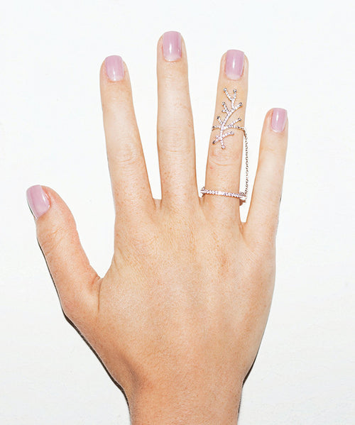 CALLICARPA FULL FINGER RING - LEO MATHILD  - 2