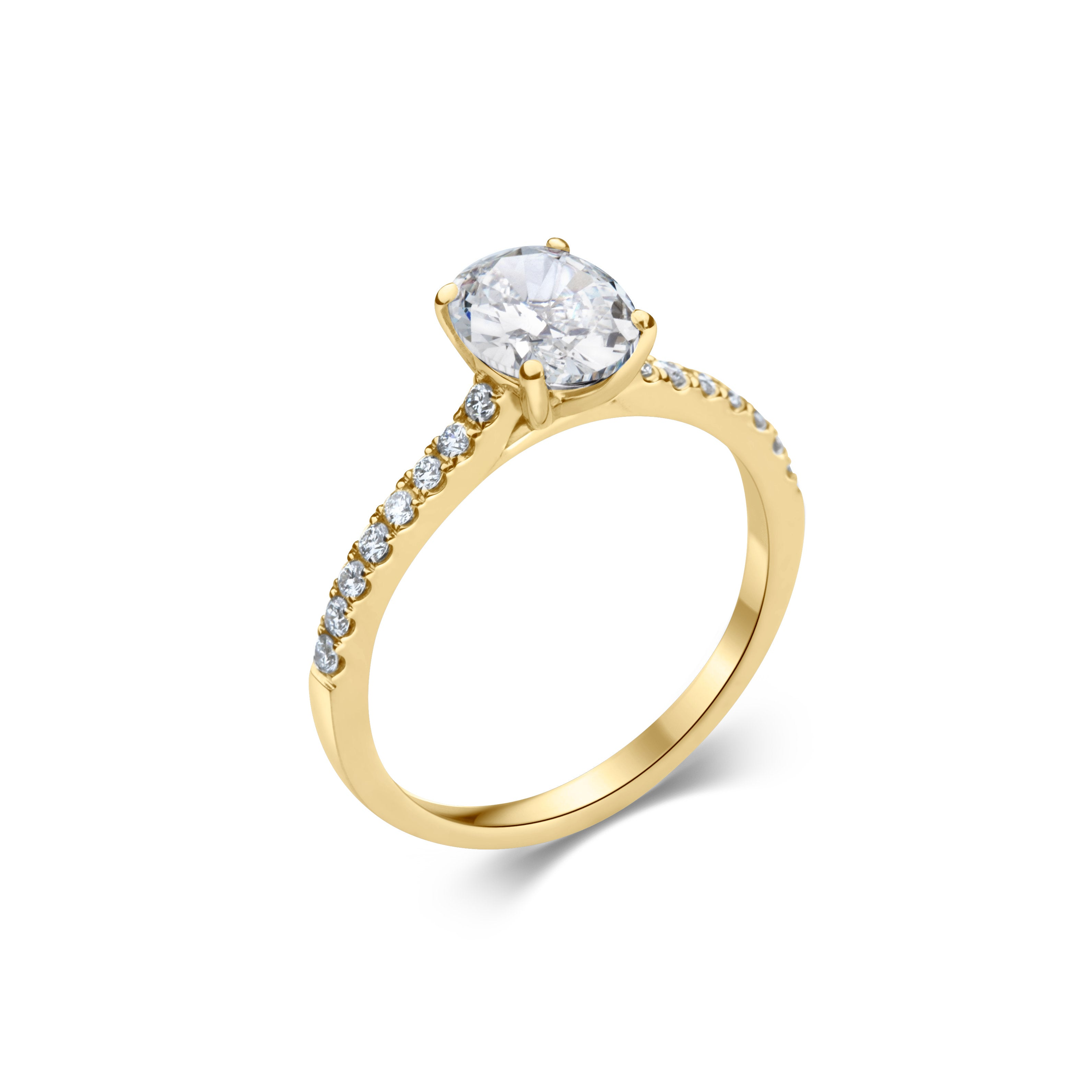 LYSANDER oval cut yellow gold
