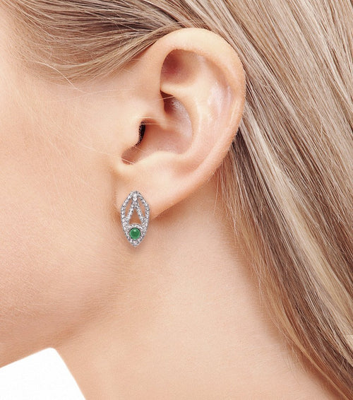 PEACOCK EARRINGS, Pair