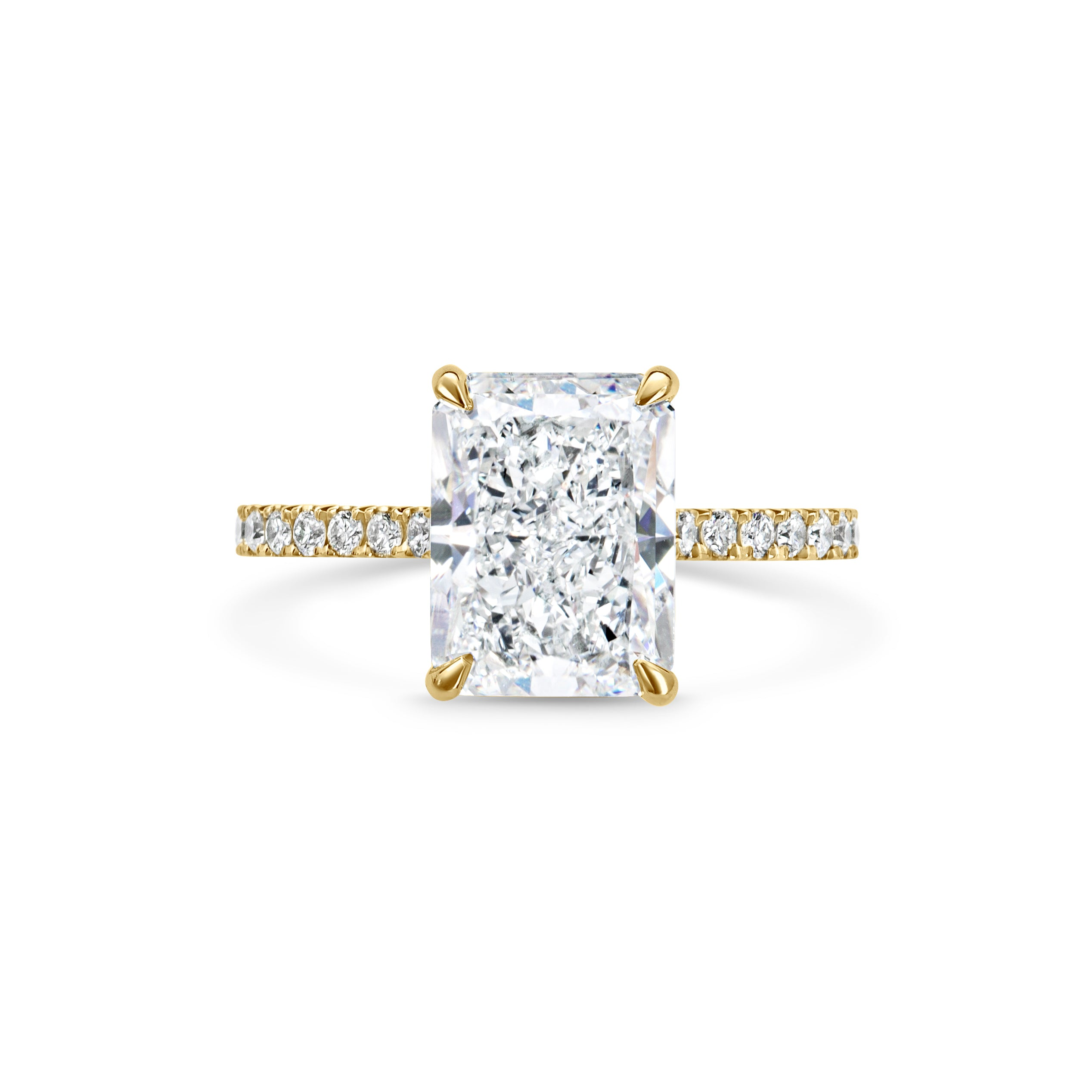 LOULOU radiant cut yellow gold