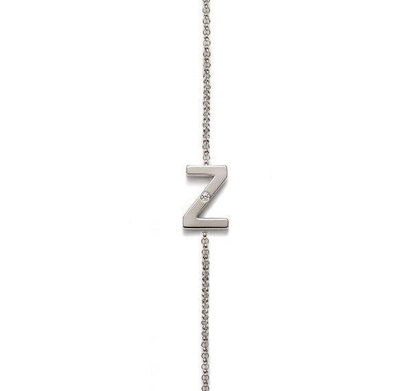 ONE DIAMOND INITIAL BRACELET