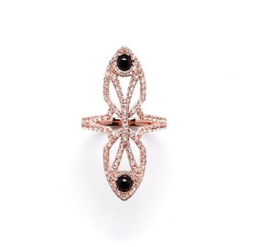 PEACOCK RING ROSÉ - LEO MATHILD  - 1