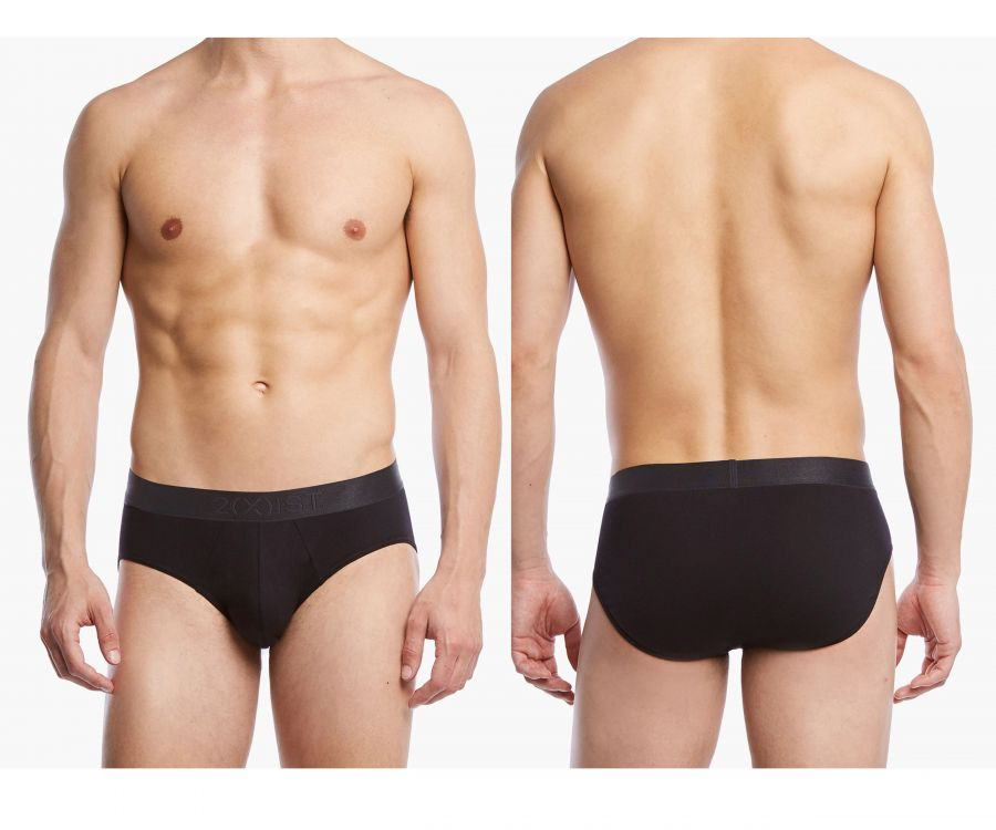 2(X)IST 3104103201 Pima Cotton Bikini Briefs Color 004NL-Black