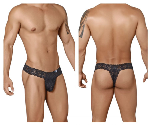 99315 Peek a Boo Thongs Color Black