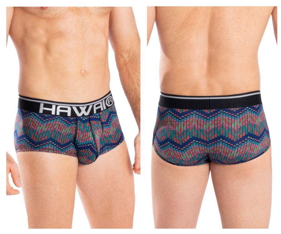 HAWAI 42053 Colorful Mini Trunks Color Blue