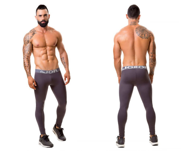 JOR 0375 Fitness Athletic Pants Color Gray