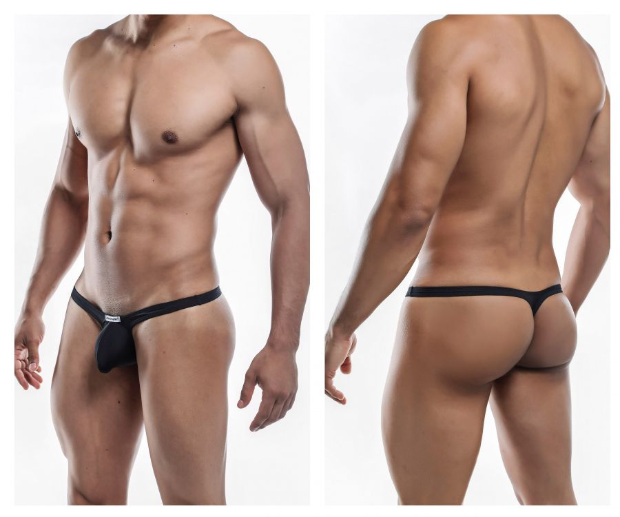 Joe Snyder JSBUL02-Pol Polyester Bulge Tanga Color Black-Poly