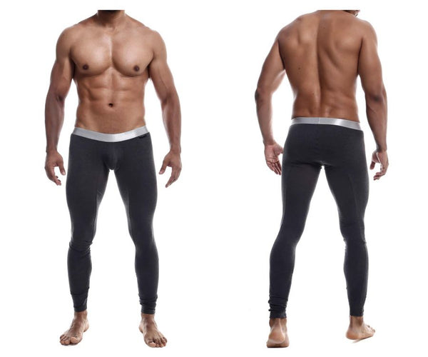 MaleBasics MB105 Classic Pima Long Johns Color Charcoal
