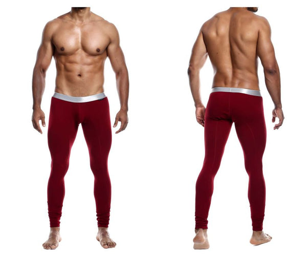 MaleBasics MB105 Classic Pima Long Johns Color Wine