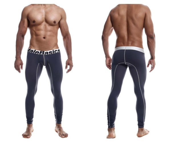 MaleBasics MBM05 Performance Long Johns Color Gray