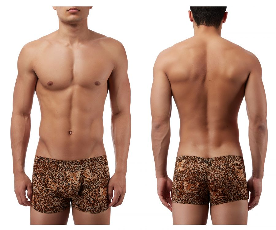 Male Power 153030 Animal Pouch Boxer Briefs Color Brown