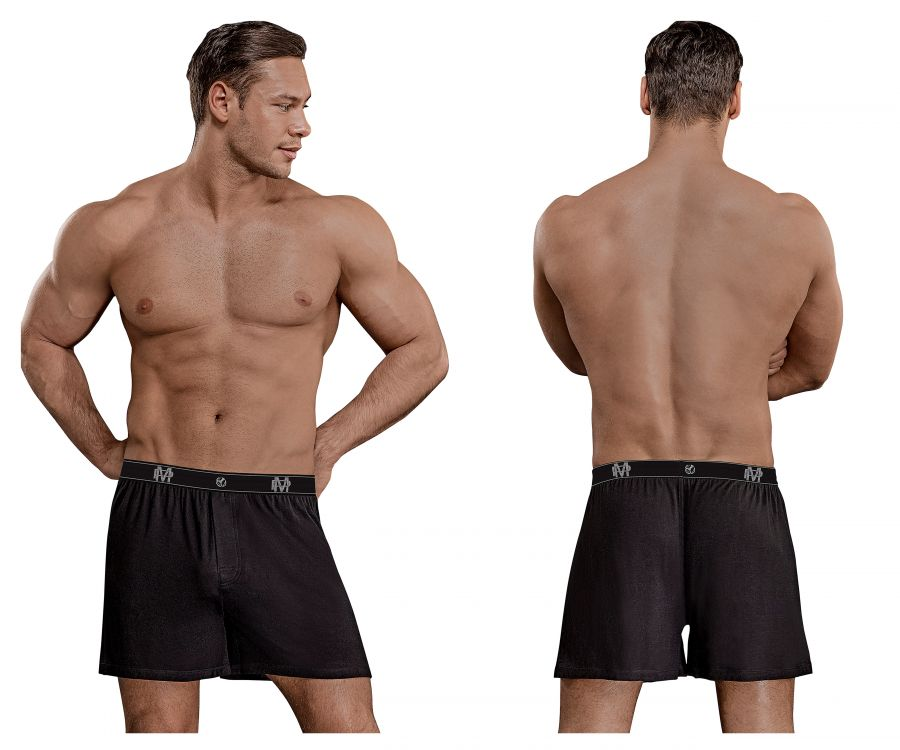 Male Power 160-253 Bamboo Boxer Short Color Black