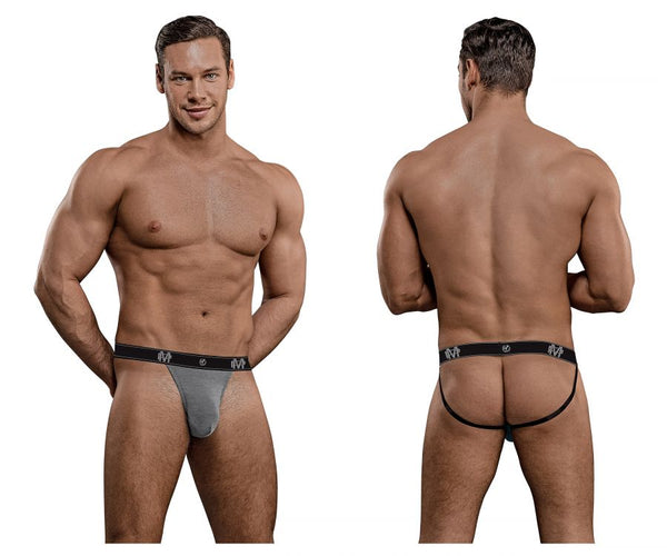 Male Power 349-253 Bamboo Sport Jock Color Gray