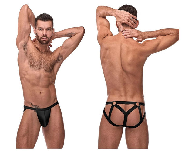 Male Power 352-261 Cage Matte Strappy Ring Jock Color Black