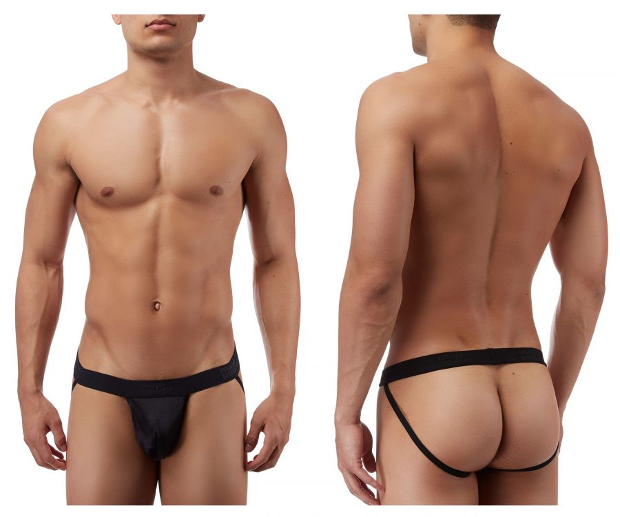 Male Power 390076 Satin Lycra Jockstrap Color Black