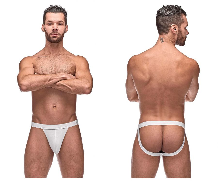 Male Power 392-257 Pure Comfort Sport Jock Color White