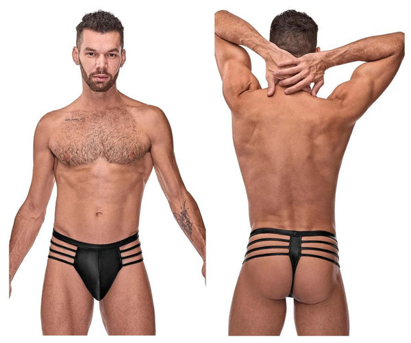 Male Power 417-261 Cage Matte Cage Thong Color Black