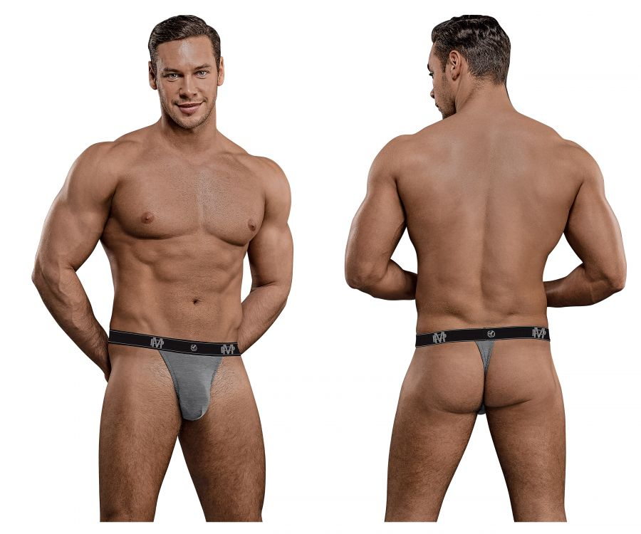 Male Power 433-253 Bamboo Micro Thong Color Gray
