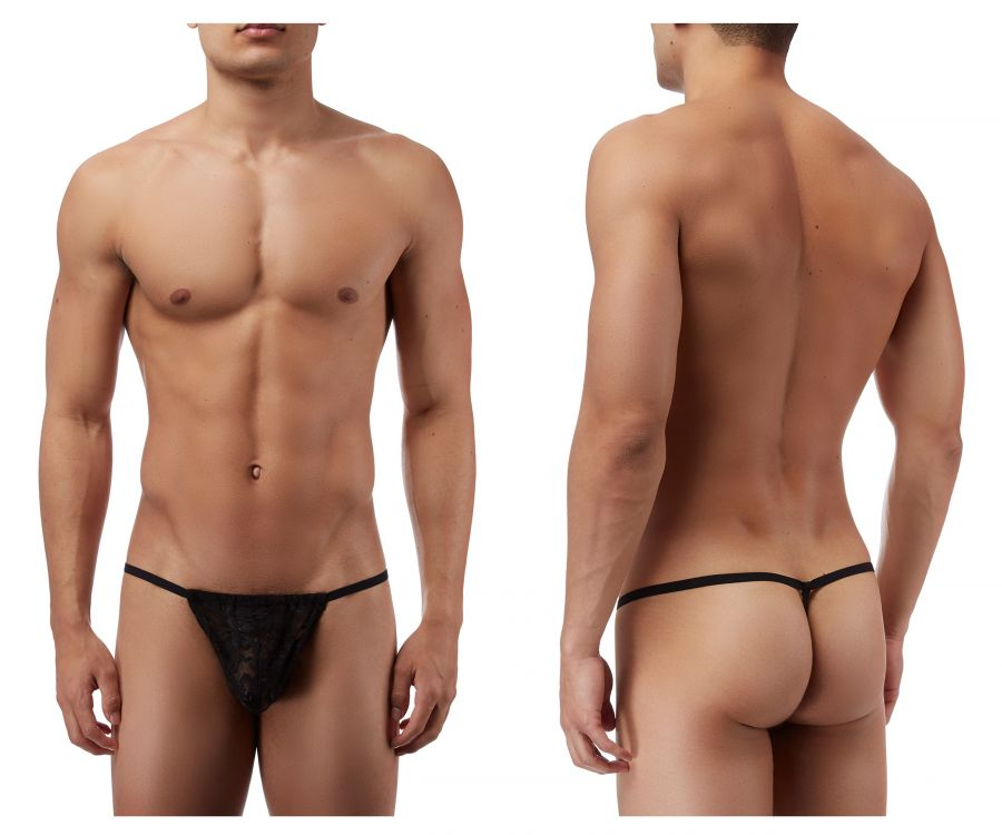 Male Power 450162 Stretch Lace Posing Strap Thong Color Black
