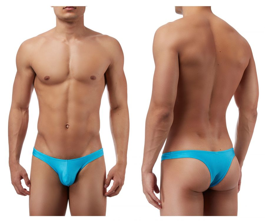Male Power PAK874 Euro Male Spandex Full Cut Thong Color Blue