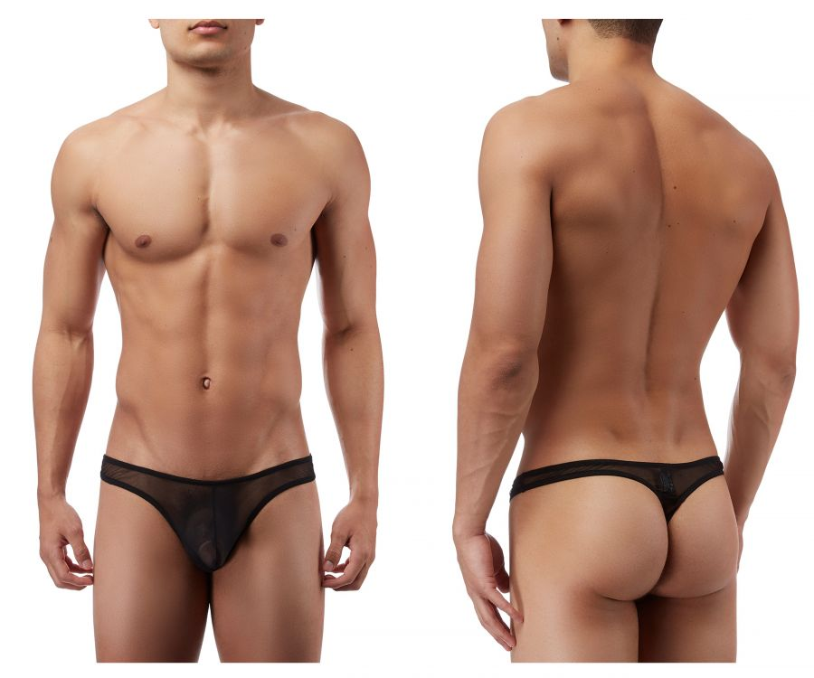 Male Power PAK882 Euro Male Mesh Mini Pouch Thong Color Black