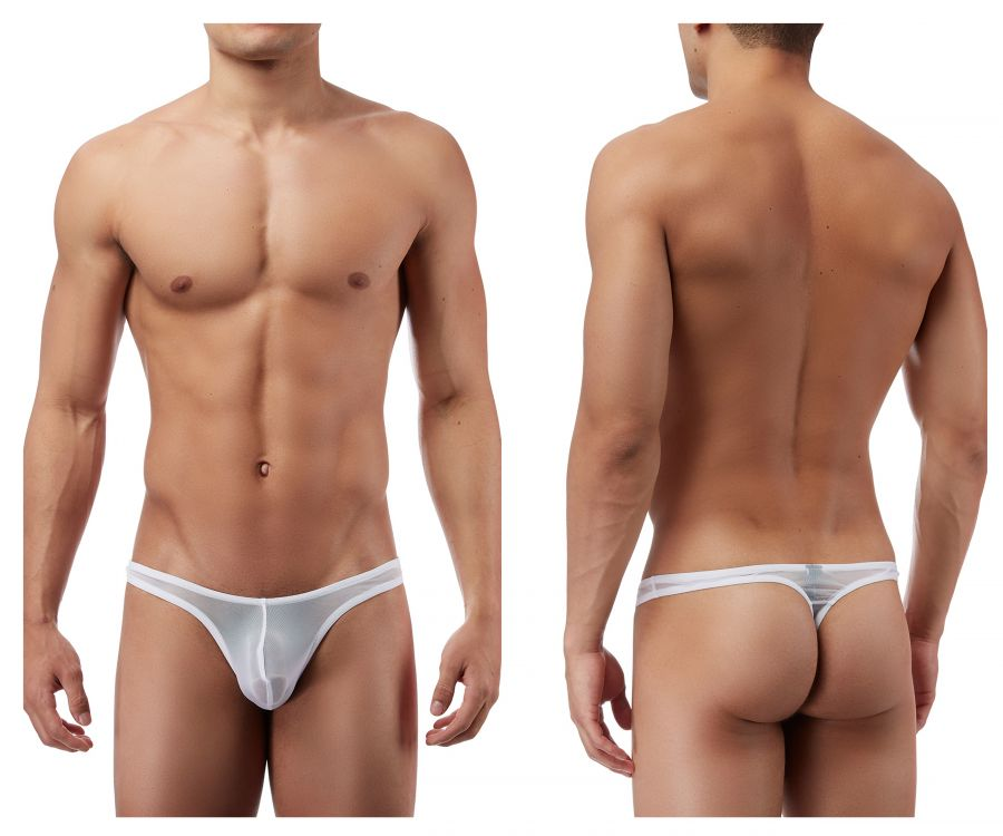 Male Power PAK882 Euro Male Mesh Mini Pouch Thong Color White