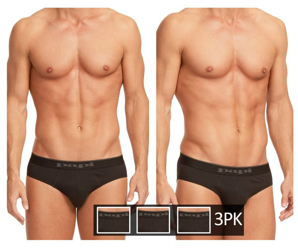 Papi 980403-001 3PK Cotton Stretch Brief Color Black