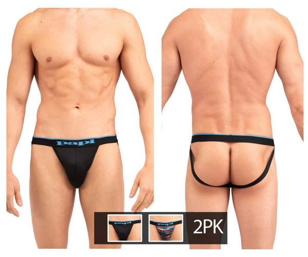 Papi UMPA006 2PK Jockstrap Color Black-Blue