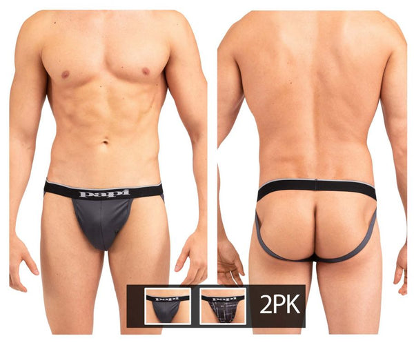 Papi UMPA006 2PK Jockstrap Color Black-Gray