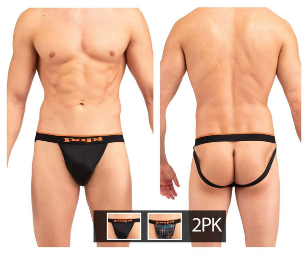 Papi UMPA006 2PK Jockstrap Color Black-Orange