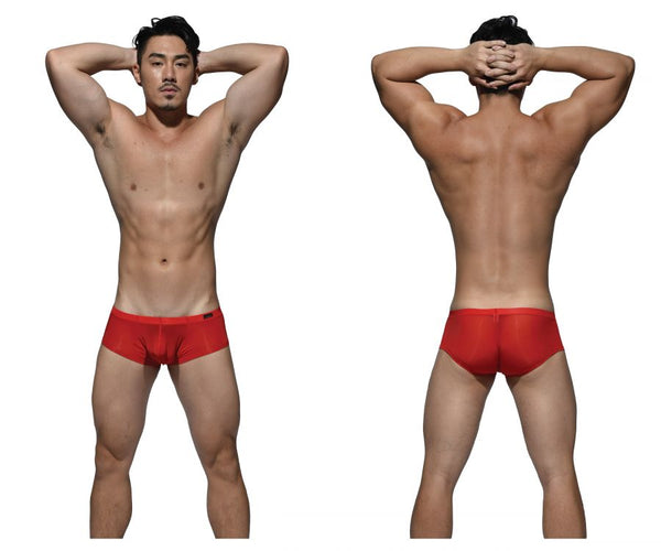 Private Structure DGEMU3487BT Desire Glaze Hipster Boxer Brief Color Red