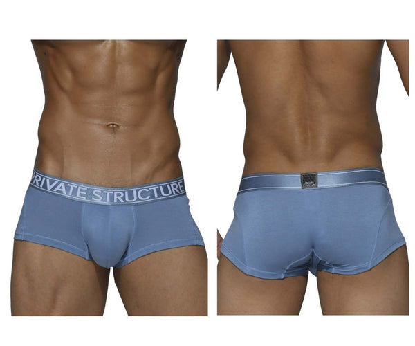 Private Structure PBUX4073 Platinum Bamboo Trunks Color Air Force Blue