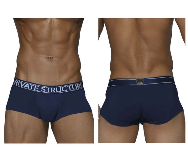 Private Structure PBUX4073 Platinum Bamboo Trunks Color Midnight Navy